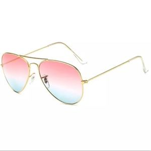 Accessories - Pink and Blue Aviator Pilot Sunglasses